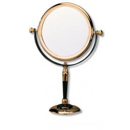 """Большое косметическое зеркало S.QUIRE золото с металлом """"мокрый асфальт"""" \ 8102"""