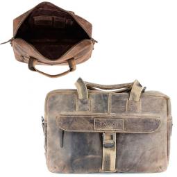 """Портфель на молнии WENGER """"STONEHIDE"""", коричневый, кожа, 55х11x40 см \ W16-07"""
