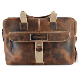 """Портфель на молнии WENGER """"ARIZONA"""", коричневый, мягкая кожа, 55x11x40 см \ W23-10Br"""