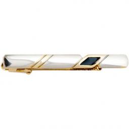 Заколка для галстука черный лак позолота Gran Carro Cravatta Clip \ GC7303255