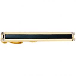 Заколка для галстука черный лак позолота Gran Carro Cravatta Clip \ GC7420000