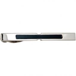 Заколка для галстука черный лак посеребрение Gran Carro Cravatta Clip \ GC7460000