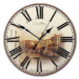 Настенные часы из дерева Династия  Старинная Венеция \ 02-002