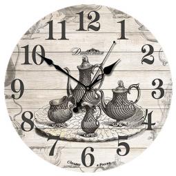 Настенные часы из дерева Династия  Чаепитие \ 02-004