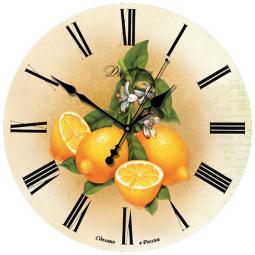 Настенные часы из дерева Династия  Лимоны \ 02-006