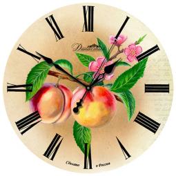 Настенные часы из дерева Династия  Персики \ 02-011