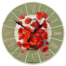 Настенные часы из дерева Династия  Маки \ 02-013