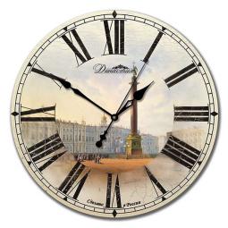 Настенные часы из дерева Династия  Дворцовая площадь \ 02-014