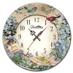 Настенные часы из дерева Династия  Незабудки \ 02-017