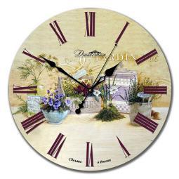 Настенные часы из дерева Династия  Натюрморт \ 02-021