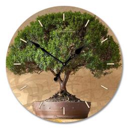 Настенные часы из стекла Династия  Дерево счастья \ 01-003