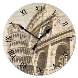 Настенные часы из стекла Династия  Старинная Италия \ 01-004