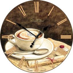 Настенные часы из стекла Династия  Кофе \ 01-007