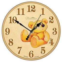 Настенные часы из стекла Династия  Медвеженок \ 01-009