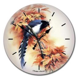Настенные часы из стекла Династия  Птичка \ 01-011