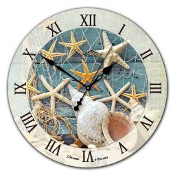 Настенные часы из стекла Династия  Красное Море \ 01-014