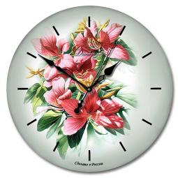 Настенные часы из стекла Династия  Букет \ 01-016