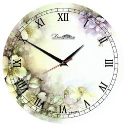 Настенные часы из стекла Династия  Нежность \ 01-017