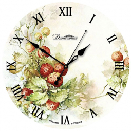 Настенные часы из стекла Династия  Ягоды \ 01-018