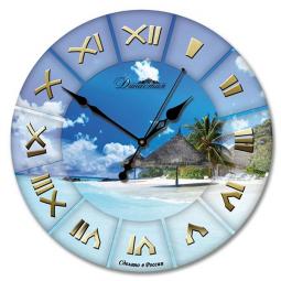 Настенные часы из стекла Династия  Море \ 01-019