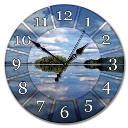 Настенные часы из стекла Династия  Озеро \ 01-020