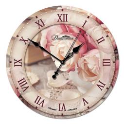 Настенные часы из стекла Династия  Розы \ 01-028