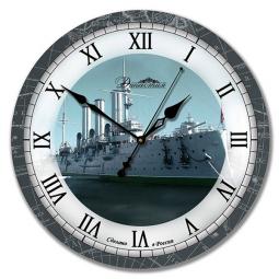 Настенные часы из стекла Династия  Аврора \ 01-029