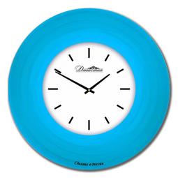 Настенные часы из стекла Династия  Голубой \ 01-031