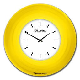 Настенные часы из стекла Династия  Желтый   \ 01-032