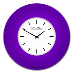 Настенные часы из стекла Династия  Фиолетовый   \ 01-037