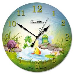 Настенные часы из стекла Династия  Озерные жители \ 01-040