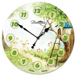 Настенные часы из стекла Династия  Лесная поляна \ 01-043