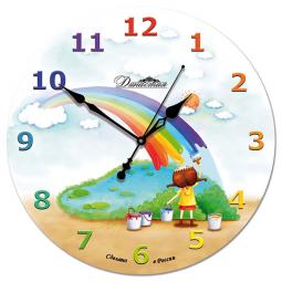 Настенные часы из стекла Династия  Радуга \ 01-044