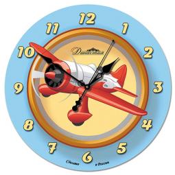 Настенные часы из стекла Династия  Самолет \ 01-045