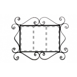 Металлическая рамка для адреса на 3 элемента РусАрт