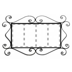 Металлическая рамка для адреса на 4 элемента РусАрт