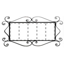 Металлическая рамка для адреса на 5 элемента РусАрт