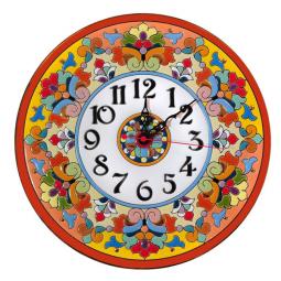 Настенные часы ручной работы 30 см РусАрт \ Ч-3016