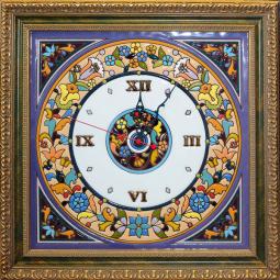 Настенные часы ручной работы квадратные 40*40 см РусАрт \ Ч-5001