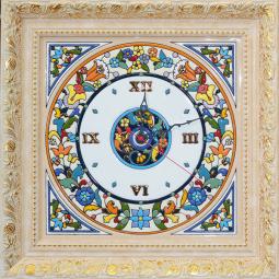 Декоративные настенные часы квадратные 42*42 см РусАрт \ Ч-5002