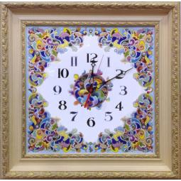 Декоративные большие настенные часы квадратные 58*58 см РусАрт \ Ч-5016