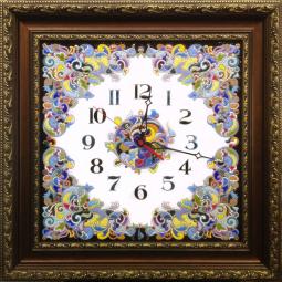 Декоративные большие настенные часы квадратные 58*58 см РусАрт \ Ч-5017