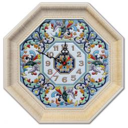 Декоративные настенные часы восьмиугольные 45*45 см РусАрт \ Ч-6001