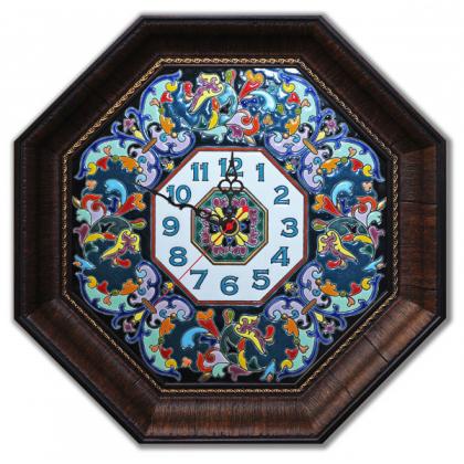 Настенные часы ручной работы восьмиугольные 45*45 см РусАрт  Ч-6002