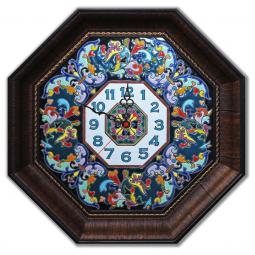 Декоративные настенные часы восьмиугольные 45*45 см РусАрт \ Ч-6002