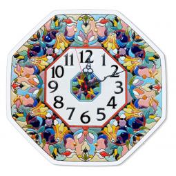 Настенные часы ручной работы восьмиугольные 37*37 см РусАрт \ Ч-6010