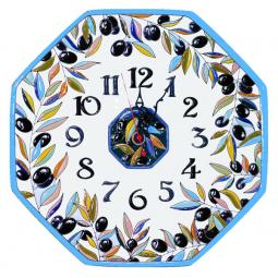 Настенные часы ручной работы восьмиугольные 37*37 см РусАрт \ Ч-6012