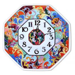 Настенные часы ручной работы восьмиугольные 37*37 см РусАрт \ Ч-6013