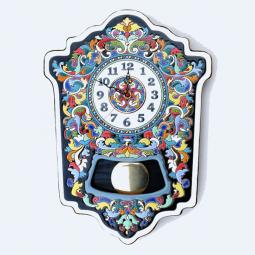 Большие настенные часы ручной работы с маятником 45*33 см РусАрт \ Ч-7001