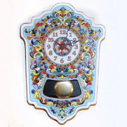 Большие настенные часы ручной работы с маятником 45*33 см РусАрт \ Ч-7002